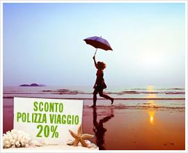 RISPARMIA SULLA POLIZZA VIAGGIO: PER TE UNO SCONTO DEL 20%!