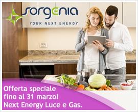 OFFERTA LUCE E GAS: RISPARMIA CON NEXT ENERGY DI SORGENIA!